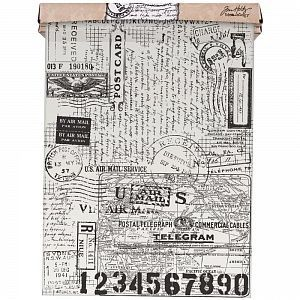 "Бумага тишью Tim Holtz Idea-Ology Tissue Wrap ""Postale"", 1 ярд, арт.TH93181"