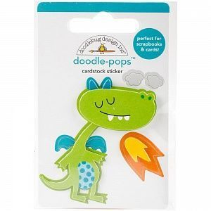 "Стикер Doodlebug Doodle-Pops 3D Stickers ""Dragon Tails Puff"", арт.DRA5581"