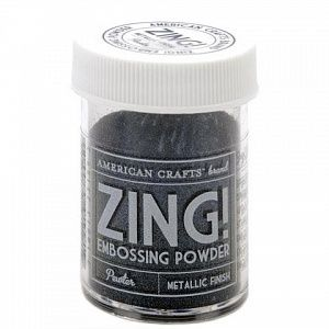 "Пудра для эмбоссинга матовая American Crafts ""ZING"" Пыльный, (28.4г)"