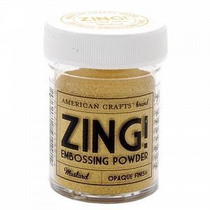"Пудра для эмбоссинга матовая American Crafts ""ZING"" Горчичный, (28.4г)"