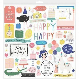 "Набор чипборда Crate Paper ""Hooray"", 30*30 см, арт.344582"