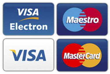 Оплата картой банка VISA Maestro MasterCard VISA Electron